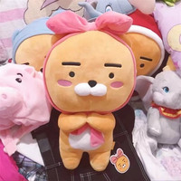 South Korea Hot Sales Kakao Friend Bow Ryan Lion Plush Toy Doll Send Fans Sister