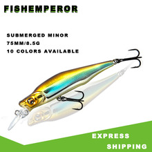 цена на 1PCS Laser Minnow Fishing Lure 7.5CM 8.5G Pesca Hooks Fish Wobbler Tackle Crankbait Artificial Japan Hard Bait Swimbait