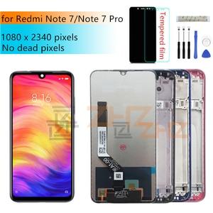 Image 1 - Per xiaomi Redmi Nota 7 display LCD touch screen digitizer Assembly con telaio per redmi note7 pro lcd parti di riparazione
