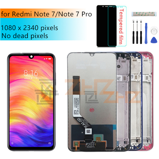 for xiaomi Redmi Note 7 LCD display touch screen digitizer Assembly with frame for redmi note7 pro lcd repair parts