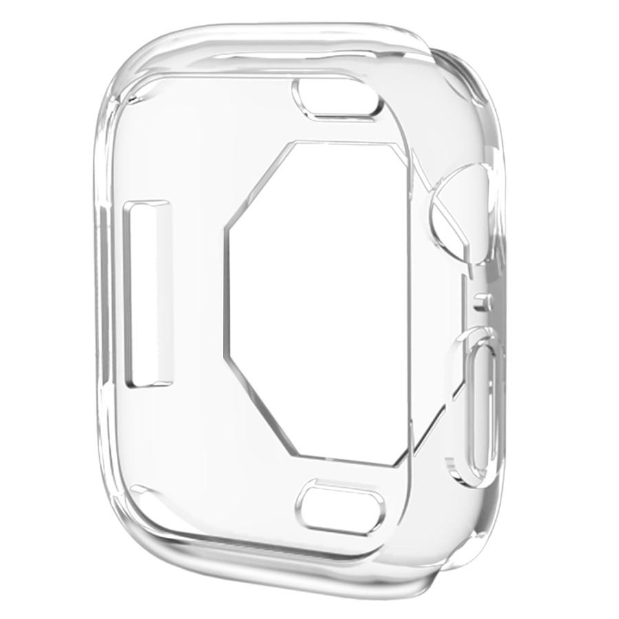 Чехол s для Apple Watch, 44 мм, 40 мм, серия 5, чехол с покрытием, TPU, мягкая защитная оболочка, защитная рамка для iWatch, 4 полосы, бампер - Цвет: Transparent