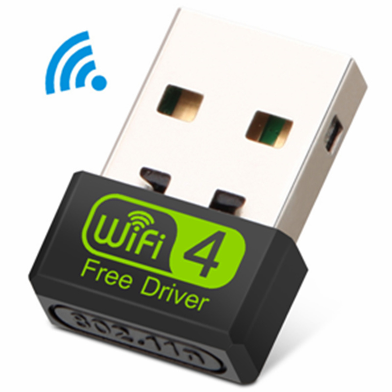 Mini WiFi Adapter USB WiFi USB Adapter Free Driver Wi Fi Dongle 150Mbps Network Card Ethernet Wireless Wi-Fi Receiver For PC