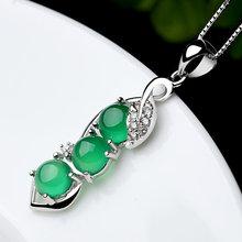 1 шт модное Нефритовое зеленое Натуральное Агат ювелирное изделие