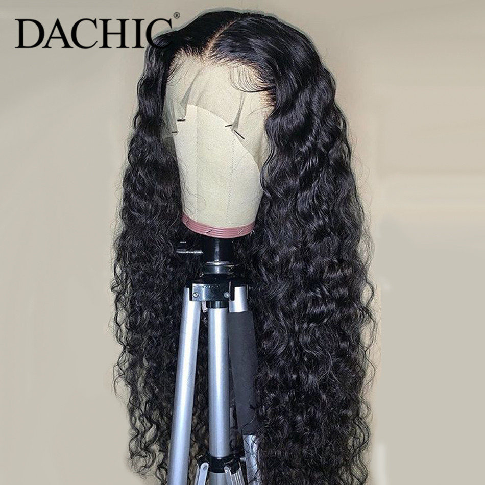 Water Wave Lace Front Human Hair Wigs Pre Plucked 8-26 Inch 13x4 150% Remy Hair Brazilian Water Wave Wavy Lace Frontal Wigs
