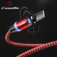 CaseMe Magnetic Micro USB Type C Cable For iPhone Huawei Android Mobile Phone Fast Charging USB Cable Magnet Charger Wire Cord magnetic usb cable for samsung huawei type c usb charging usb c magnet micro usb cable android mobile phone cord wire for iphone