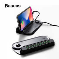 Baseus 2 in 1 Car Parking Card with Mobile Phone Holder Car Temporary Parking Phone Number Plate Car Styling Accessories