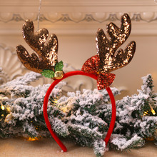 Хит, рождественские повязки на голову, Необычные оленьи рога, повязка на голову, рождественские детские повязки на голову, вечерние украшения, головные уборы, горячие аксессуары для волос, подарок