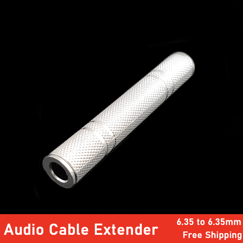Guitar Audio Cable Extender Connector 1/4