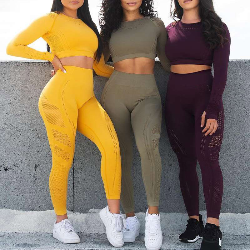Kaminsky Ombre Seamless Leggings Push Up Fashion Pants High Waist Workout Jogging For Women Athleisure Training Leggings