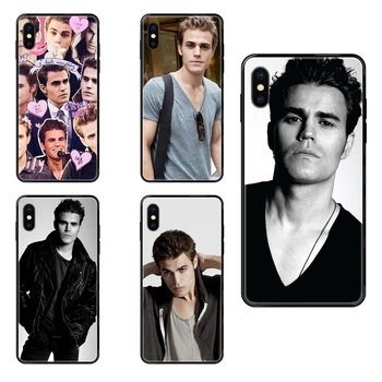 Black Soft TPU Screen Protector Colours Thevampire Diaries Paul Wesley For Galaxy A5 A6 A7 A8 A10 A10S A20 A20S A20E A21S A30S image