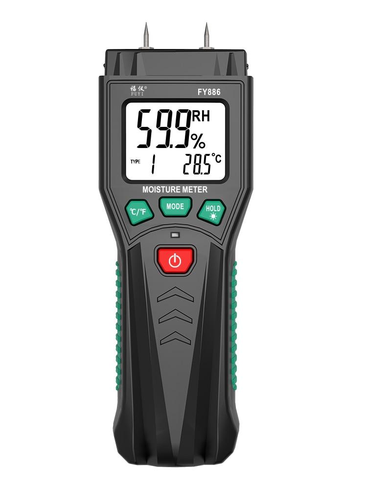 Цифровой измеритель влажности древесины FUYI, гигрометр для дерева, бетона, бумаги