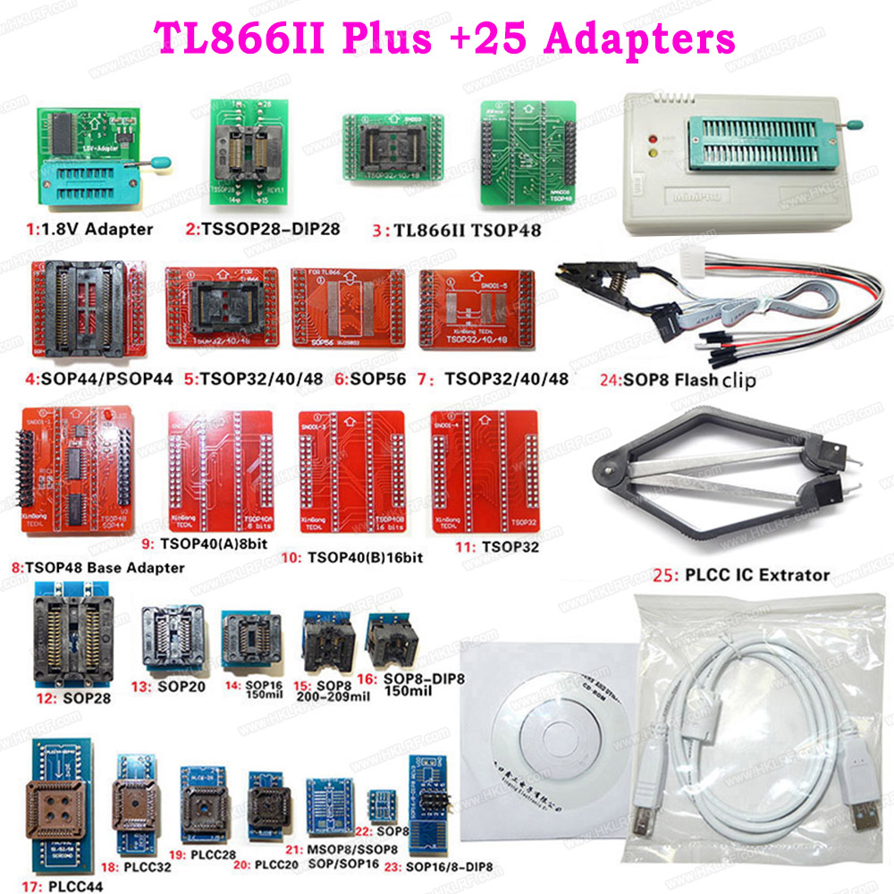 Programmer-Support Extractor-Clip Flash NAND Universal Tl866ii-Plus 25-Adapters Minipro