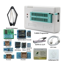 цена на V8.33 Tl866Ii Plus Usb Universal Bios Nand Flash 24 93 25 Mcu Programmer+12 Adapters