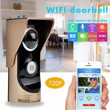 WiFi 720P wizualny dzwonek bezprzewodowy wideofon bezpieczeństwo w domu 1MP kamera HD dwukierunkowy domofon głosowy pilot aplikacji sterowanie VF-DB01
