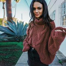 NLW Turtleneck Oversize Winter Sweater Women's Autumn Knitted Long Sleeve Mohair Sweater Jumper 2019 Thick Twist Pullover Femme nlw 27 20 дюймов