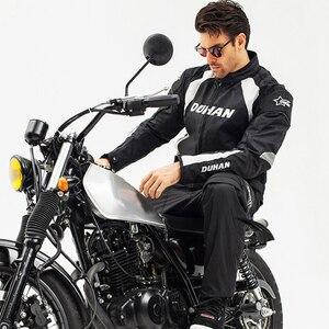 Image 5 - אופנוע גברים מוטוקרוס חליפות Jacket & מכנסיים Moto מעיל ציוד מגן שריון אופנוע בגדי רכיבה מעילים