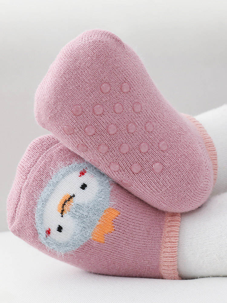 Baby Socks Girl Anti-Slip Warm Toddler Thick Infant Winter Kids Cartoon Autumn Short