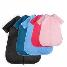 новинка младенец спальный мешок сумка коралл флис новорожденный сон мешок анти-удар спальный мешок 0-12 лет младенец сон мешок съемный рукава спальный мешок