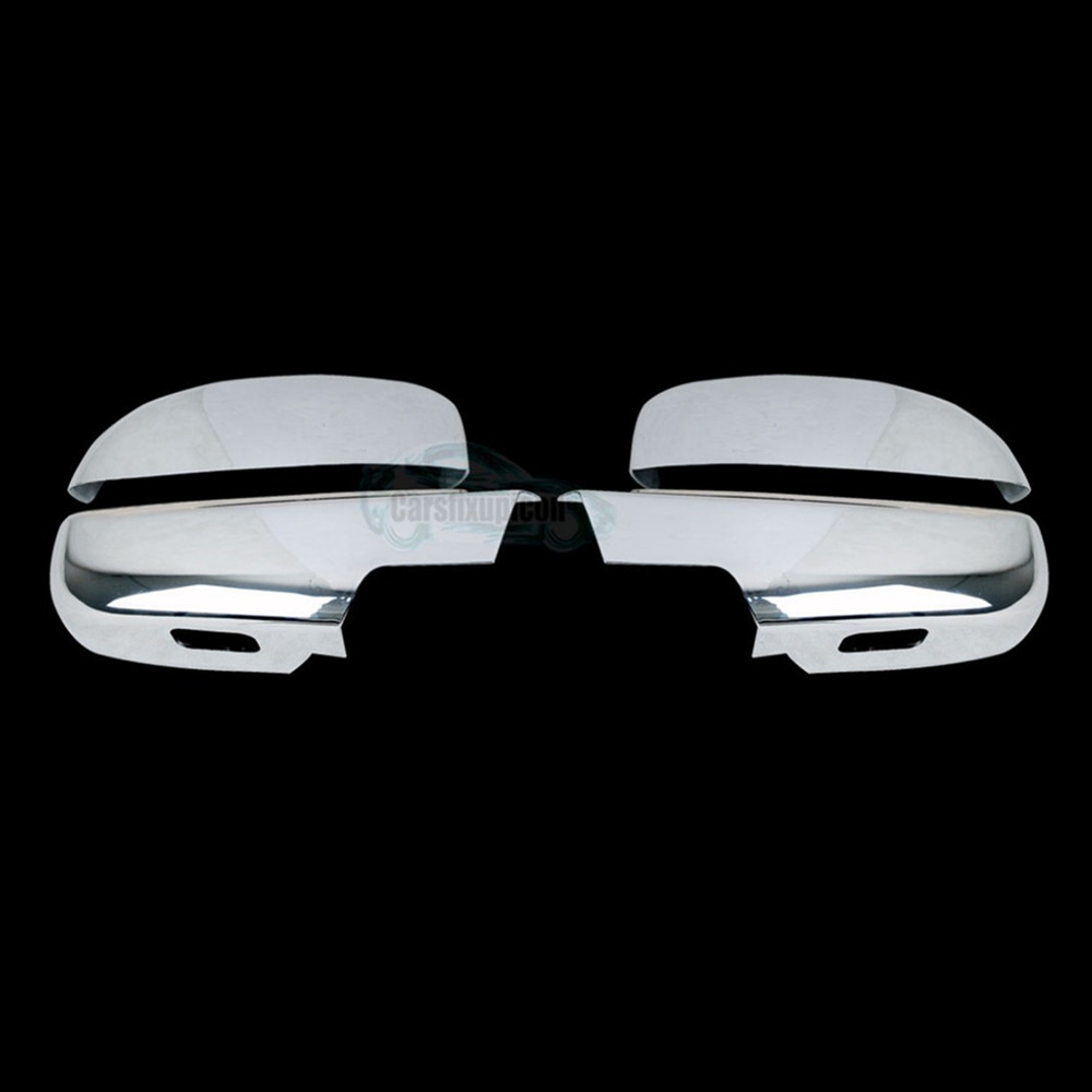 07-13 Chevy Suburban+Tahoe+Avalanche Chrome Mirror+4 Door Handle NO PSG KH Cover