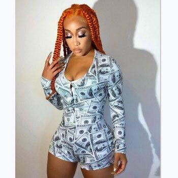 Women's Sexy Onesi Adult Female Nightwear Leotard Long Sleeve Print Button Bodysuit  Home Wear Tracksuit Playsuit Pajama Clothes цена 2017