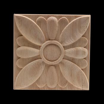 Drewno rzemiosło drewno naklejka rama drewniana drewno naklejka drewno aplikacja nowoczesne niepomalowane dekoracje długie liście kwiat drewniane meble ściany nowe tanie i dobre opinie NoEnName_Null Europa Flower Drewna