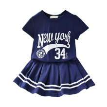 New summer Baby girls Clothes Shorts T-shirt + Skirt 2PCS Sport Suit Baby Kids Short Sleeve Children Clothing Sets A sodawn 2017 brother sister clothes summer new children clothse boysgirls lattice short sleeve shorts suit boy girls clothing set