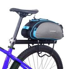 Lixada 13L многофункциональная велосипедная сумка на заднее сиденье, сумка для велосипедного велосипеда, сумка для заднего багажника, сумка на заднее сиденье