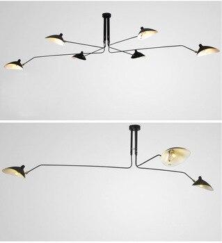 Black Industrial Pendant Light Lamp Luminaire Hanglamp Spider Home Decor Light Fixtures For Dining Room Kitchen Bar led Lighting