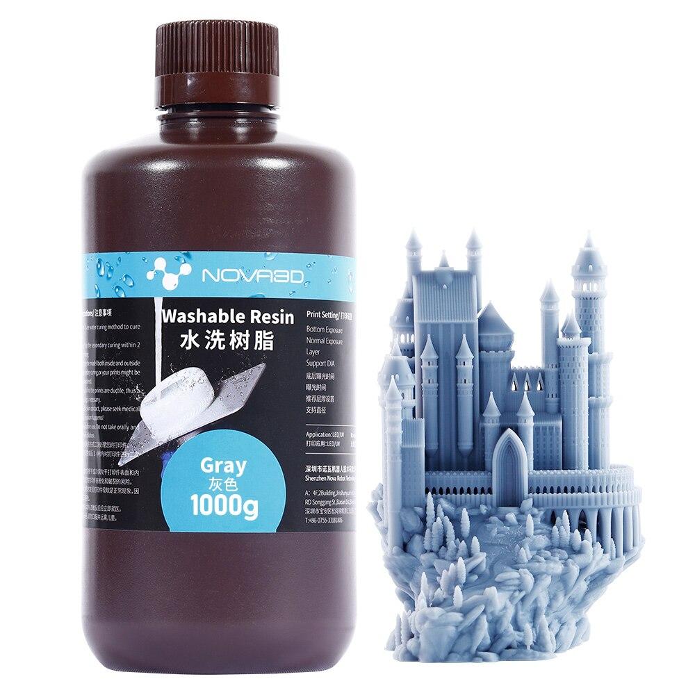3d                            NOVA3D Water Washable Resin 3D Printer UV Resin 405nm LCD 3D Printer Water Washable Resin High Qaulity Printing