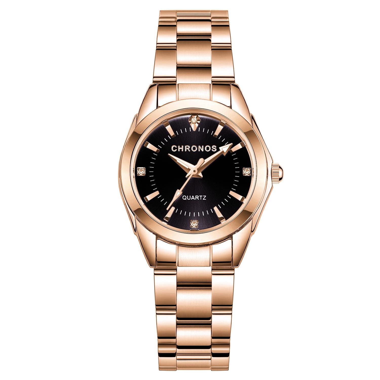 Best DealÐCHRONOS Watch Women Luxury Fashion Casual Quartz Watches Stainless Steel Sport Ladies Elegant Wrist Watch Girl Clock