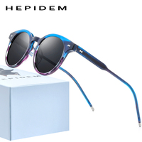 HEPIDEM Acetate Polarized Sunglasses Women 2020 Brand Designer High Quality Retro Vintage Round Sun Glasses for Men 9127 fonex