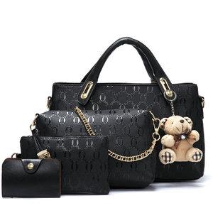 Image 2 - Soperwillton Women Bag Top Handle Bags Female Famous Brand 2020 Women Messenger Bags Handbag Set PU Leather Composite Bag #150