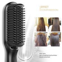 Hair Straightener Comb 2 in 1 Fast Heating Straightening Comb Temperature Lock & Auto-Off Function Beard Straightening Brush