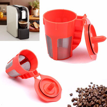 1Pcs Refillable K-Carafe Reusable Coffee Filters Maker Mesh Holder Replacement Filter Dripper Tea Baskets