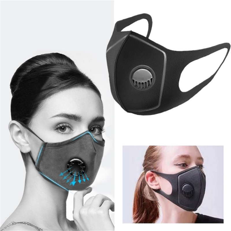 Mouth Masks Unisex Anti Dust Face Mouth Cover Reusable PM2.5 Mask Dustproof Outdoor Travel Protection With Breath Valve