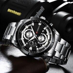 Image 5 - CURRENออกแบบนาฬิกาผู้ชายLuxury Quartzนาฬิกาข้อมือสแตนเลสChronographกีฬานาฬิกาชายนาฬิกาRelojes