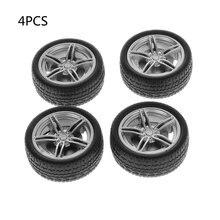 4 шт моделирование резиновых колес колесо Игрушечная модель
