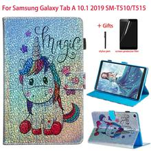 For Samsung Galaxy Tab A 10.1 2019 SM-T510 SM-T515 Case Stand Tablet PU Leather Cover For Galaxy Tab A 10.1 Inch 2019 Case+Gift недорого