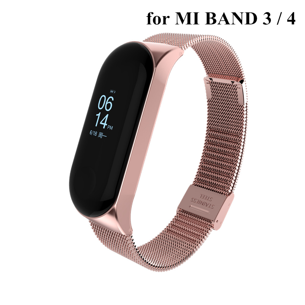 Mi Band 3 4 Strap Metal For Xiaomi Mi Band 3 Bracelet Screwless Xiaomi Mi Band 4 Bracelet Correa Xiomi MiBand 3 Wrist Band Steel