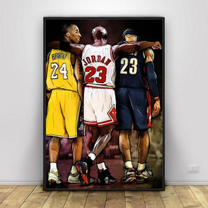 Poster Painting Picture Framework Basketball Canvas Wall-Art Kobe Bryant Prints Michael
