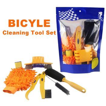 Zestawy narzędzi do czyszczenia rowerów czyszczenie łańcucha + szczotki do opon + rękawice do sprzątania rowerów MTB rękawice do sprzątania rowerów zestawy do czyszczenia narzędzi łańcuchowych tanie i dobre opinie Bicycle cleaning tool set