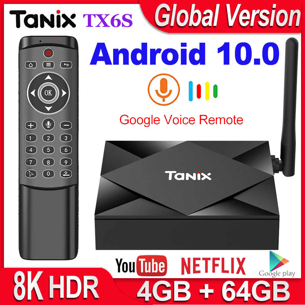 Tanix TX6S Smart TV Box Android 10 4GB di RAM 32GB 64GB Allwinner H616 Quad Core Android 10.0 TV Box H.265 4K Media player 2GB 8GB