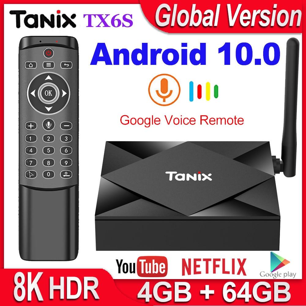 ТВ приставка Tanix TX6S на Android 10 4 ГБ ОЗУ 32 Гб 64 Гб четырехъядерный процессор Allwinner H616 Android 10,0 ТВ приставка H.265 4K медиаплеер 2 ГБ 8 ГБ|ТВ-приставки и медиаплееры|   | АлиЭкспресс