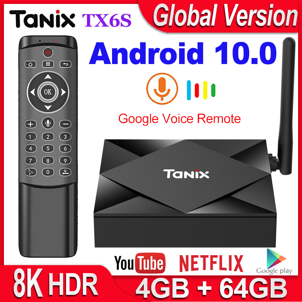 Tanix TX6S Smart TV Box Android 10 4GB RAM 32GB 64GB Allwinner H616 Quad Core Android 10.0 TV Box H.265 4K Media Player 2GB 8GB