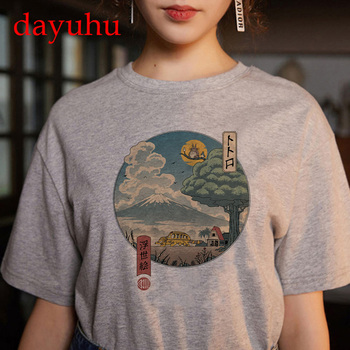 Totoro Studio Ghibli Harajuku Kawaii T Shirt Women Ullzang spirited away Tshirt Funny Cartoon T-shirt Cute Anime Top Tee Female 1