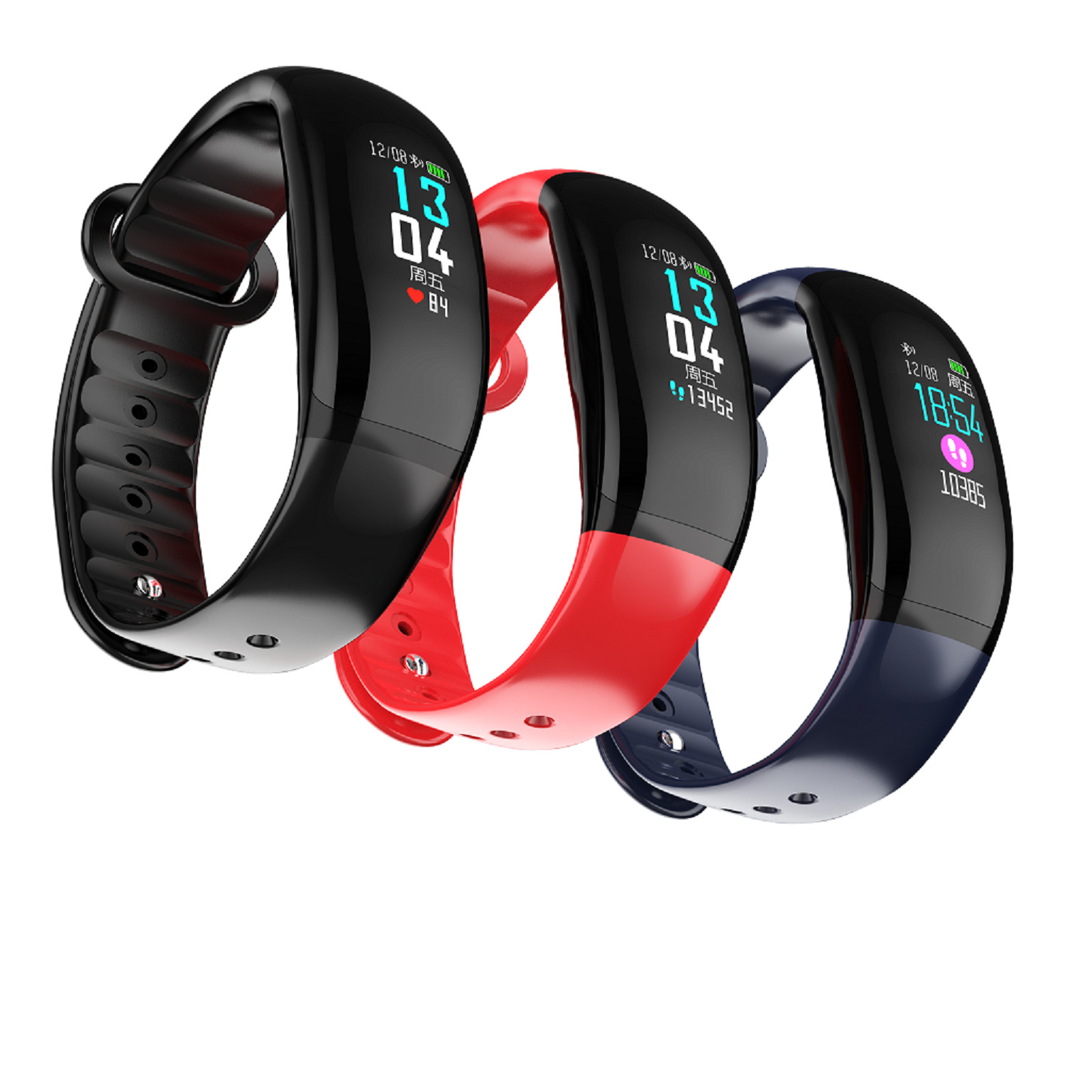 New Arrival B70 SmartBracelet IP67 Waterproof Heart Rate Blood Pressure Oxygen Fitness Tracker Sport Wristband pk T70 SmartWatch