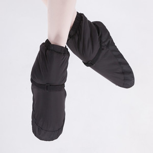 Image 2 - Kış bale ulusal dans ayakkabıları yetişkinler için Modern dans pamuk ısınma egzersizleri isıtıcı balerin çizmeler