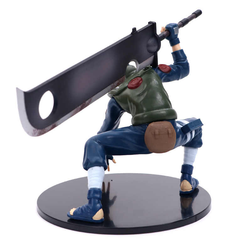 FMRXK 14cm נארוטו קאקאשי סאסקה PVC פעולה איור עם סכין לחימה אנימה בובות צעצוע דגם שולחן אוסף לילדים ילדים