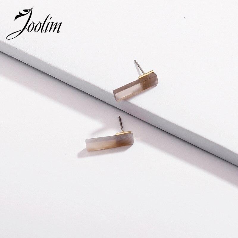Joolim Fashion Mini Natural Stone Stud Earring Design Wholesale