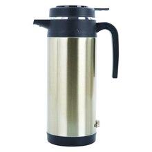 1200 мл, 12 В, 24 В, чашка для домашнего путешествия, большая емкость, кофейная, электрическая, нержавеющая сталь, ручка, портативная, изолированная крышка, автомобильный чайник для воды